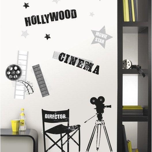 sticker cin ma 47 cm x 67 cm leroy merlin. Black Bedroom Furniture Sets. Home Design Ideas