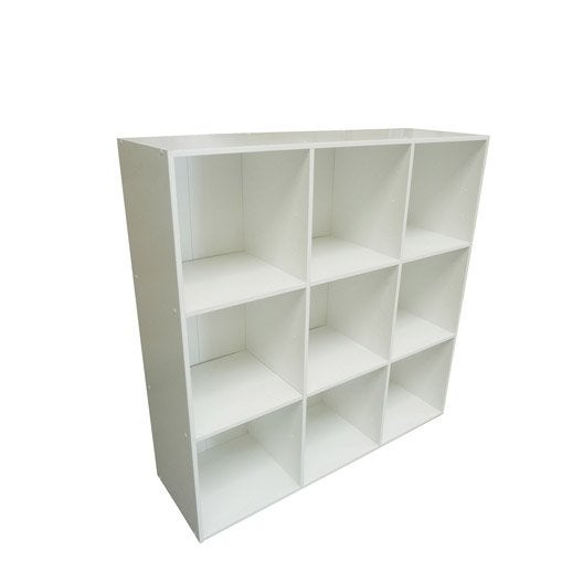 Etag re 9 cases multikaz blanche l103 2 x h103 2 cm leroy merlin - Leroy merlin etagere ...