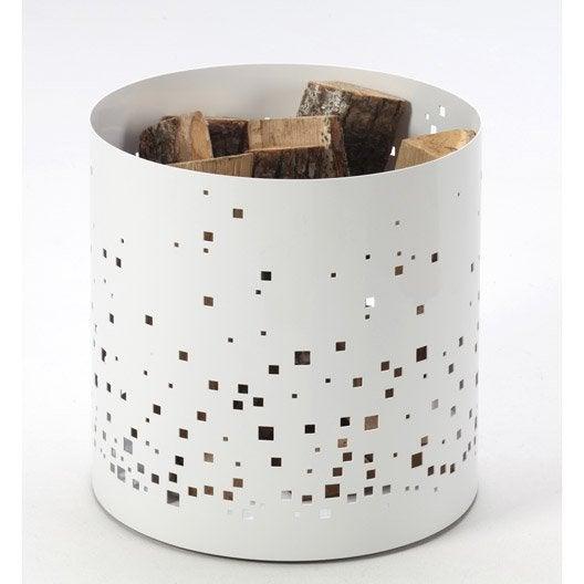 rangement pour bois acier blanc atelier dix neuf ephemer cm leroy merlin. Black Bedroom Furniture Sets. Home Design Ideas