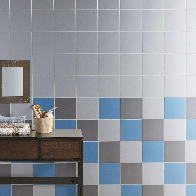 Faïence mur bleu baltique, Astuce l.20 x L.20 cm | Leroy Merlin