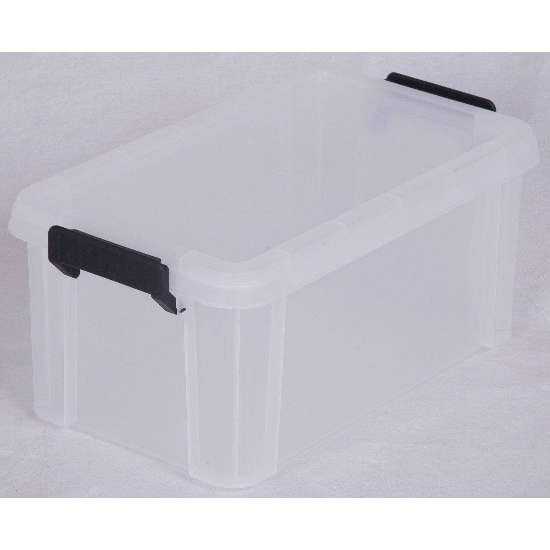 Bac Plastique Transparent Fabulous Bac De Rangement Avec Couvercle