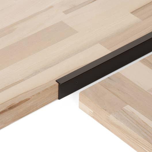 Profil de jonction d 39 angle noir x l 4 cm leroy merlin - Jonction plan de travail cuisine ...