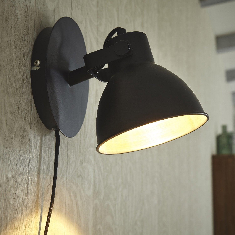 Applique tactile, design métal noir COREP Dock 1 lumière(s)