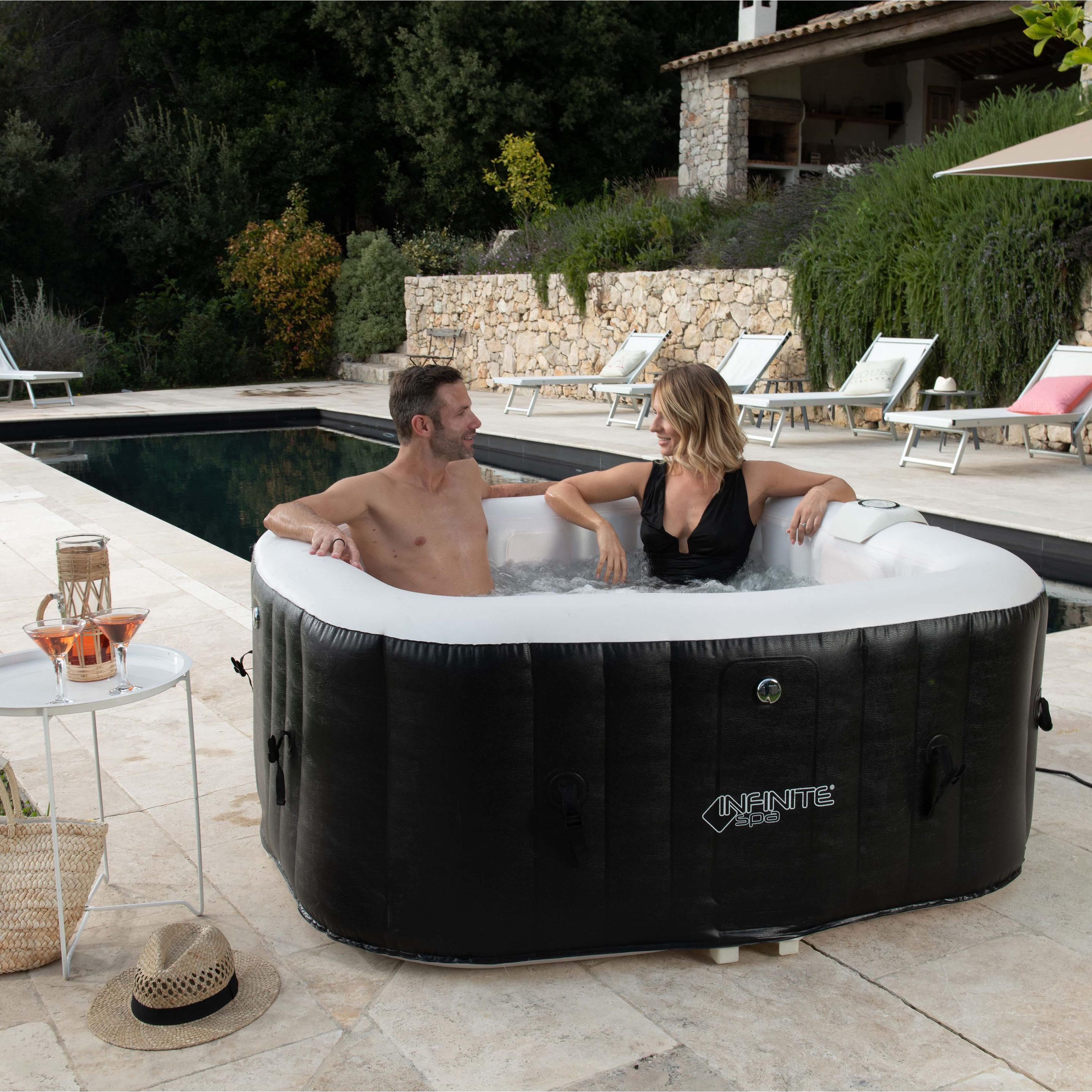 Spa Gonflable Ubbink Power Infinite Carre 4 Places Assises