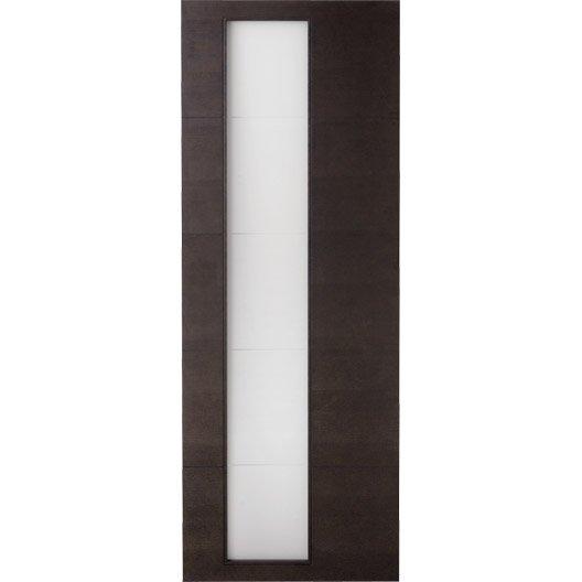 Porte coulissante fr ne plaqu marron tokyo artens 204 x for Porte 63 cm coulissante