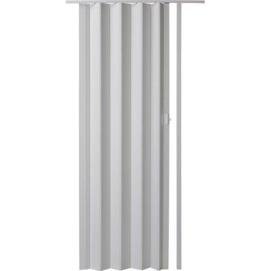 Porte extensible blanc 205 x 85 cm pais d 39 une lame 6 for Porte 85 cm