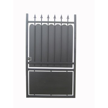 portillon battant en fer noir calypso 100x180cm. Black Bedroom Furniture Sets. Home Design Ideas