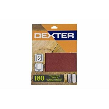 Lot de 5 feuilles abrasives DEXTER, 230 x 280 mm grains 180