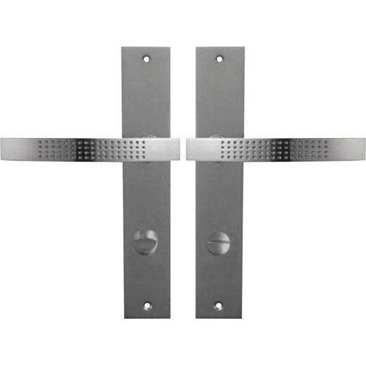 Poign es de porte louna condamnation en zinc nickel for La poignee de la porte