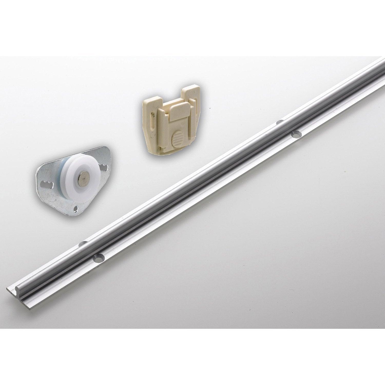 kit profil pour porte de placard coulissante Set de ferrures aluminium pour portes coulissantes HETTICH
