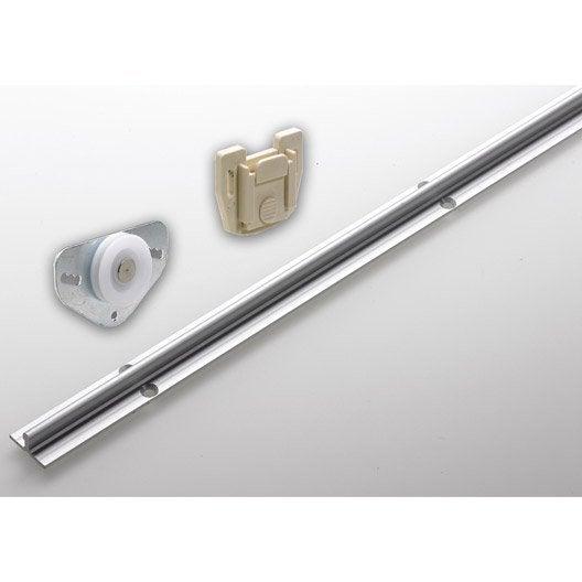 Set de ferrures aluminium pour portes coulissantes hettich for Glissiere porte coulissante meuble