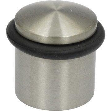 Butée de porte métal mat H.3.6 x L.3.8 x Diam.3.8 cm