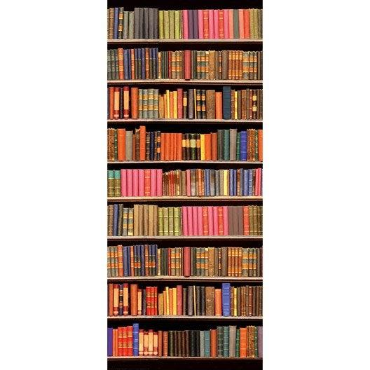 poster de porte library deco door x cm leroy merlin. Black Bedroom Furniture Sets. Home Design Ideas