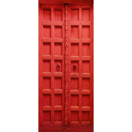 Poster de porte red door deco door x cm leroy for Deco porte leroy merlin
