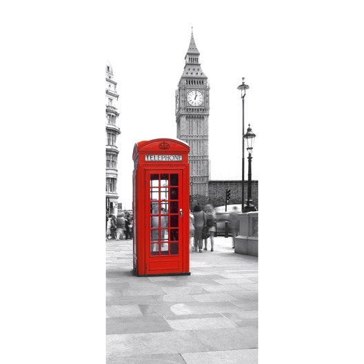 Poster de porte calling from big ben deco door x h for Poster porte wc