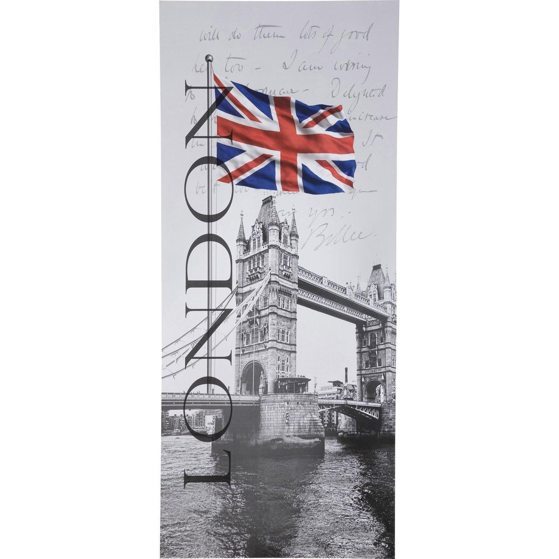 poster de porte very british deco door l.92 x h.202 cm | leroy merlin