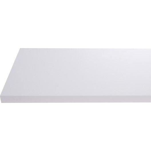 Plan de toilette en stratifi blanc brillant 150 x 4 4 x - Plan de toilette leroy merlin ...