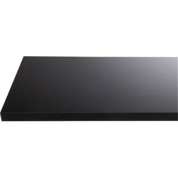 Plan de toilette en stratifié noir brillant, 150 x 4.4 x 50 cm