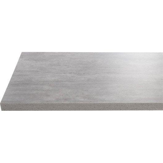 plan de toilette en stratifi imitation b ton gris argent leroy merlin. Black Bedroom Furniture Sets. Home Design Ideas
