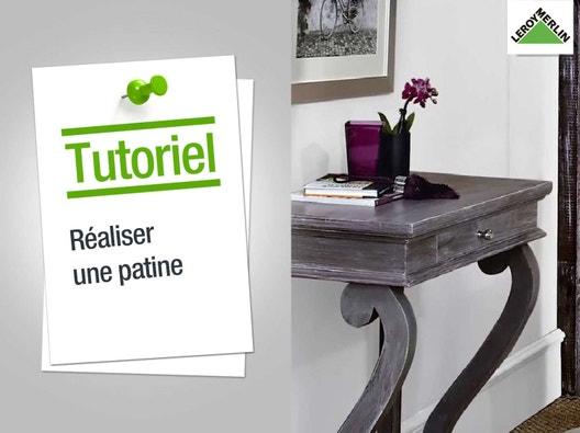 Restauration et relooking de meuble leroy merlin - Meuble bois patine ...