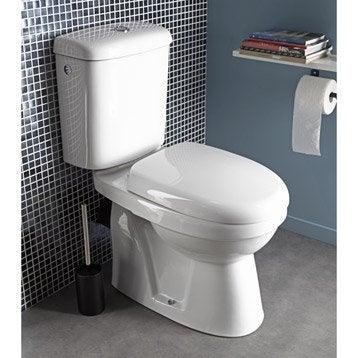 Wc poser wc abattant et lave mains toilette leroy merlin - Wc sortie horizontale ...
