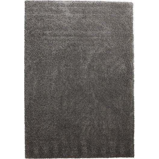 tapis taupe shaggy lizzy x cm leroy merlin. Black Bedroom Furniture Sets. Home Design Ideas