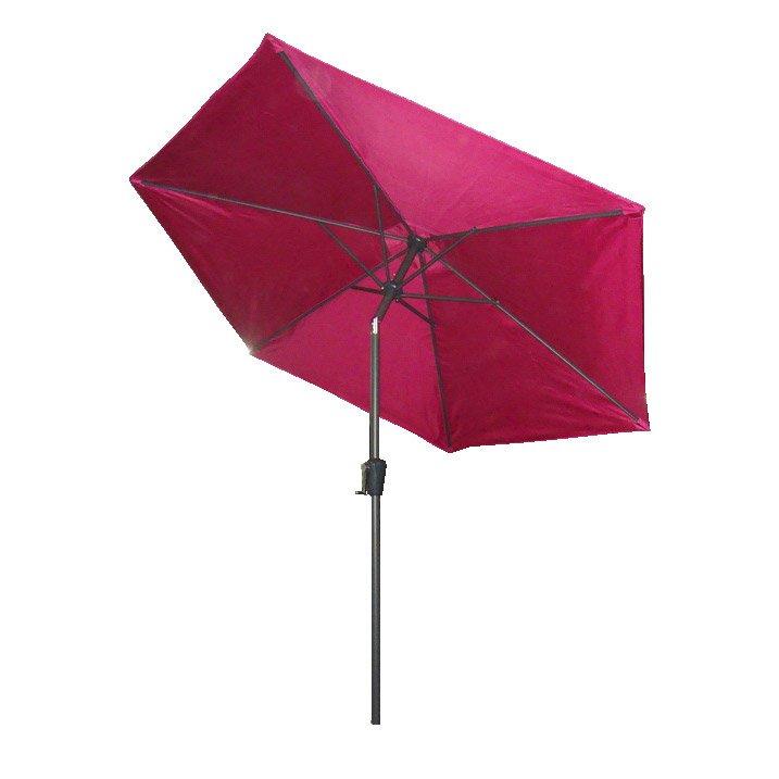 Parasol droit framboise rond, L.250 x l.250 cm | Leroy Merlin