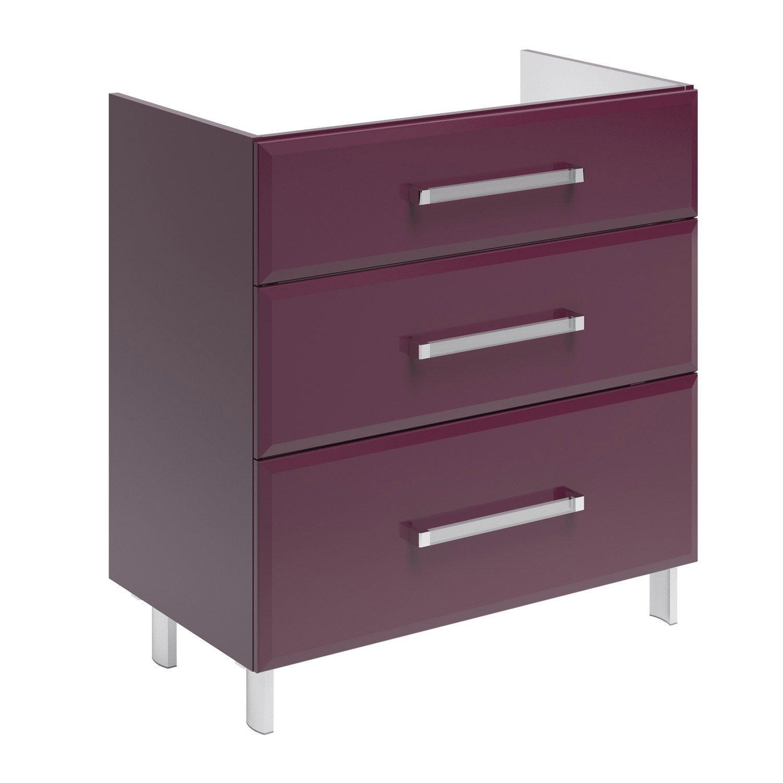 meuble sous vasque x x cm opale. Black Bedroom Furniture Sets. Home Design Ideas