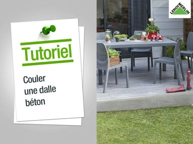 Installer un abri de jardin leroy merlin for Couler une dalle beton exterieur