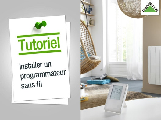 Comment installer un programmateur sans fil for Installer une alarme sans fil
