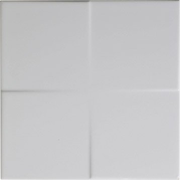 Décor Astuce blanc blanc n°0, l.20 x L.20 cm