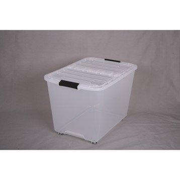 Boîte Top box plastique , l.39 x P.57.5 x H.38.5 cm