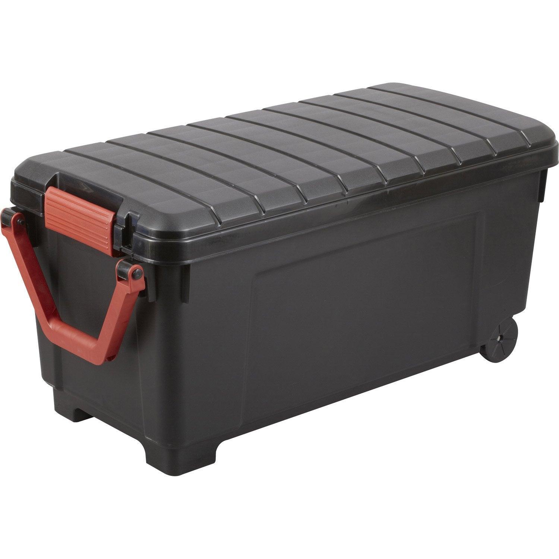 malle heavy box plastique x x cm leroy merlin. Black Bedroom Furniture Sets. Home Design Ideas