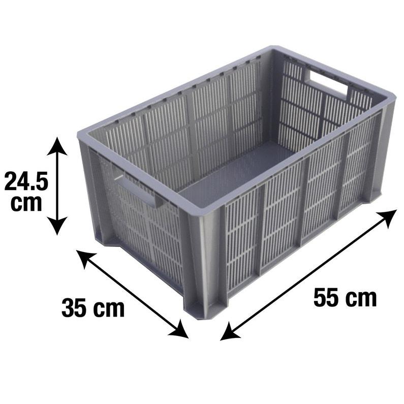 Bac De Manutention Plastique L 35 X P 55 X H 24 5 Cm