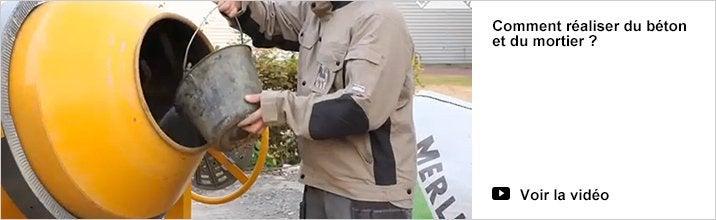 Vidéo : Comment réaliser du béton et mortier