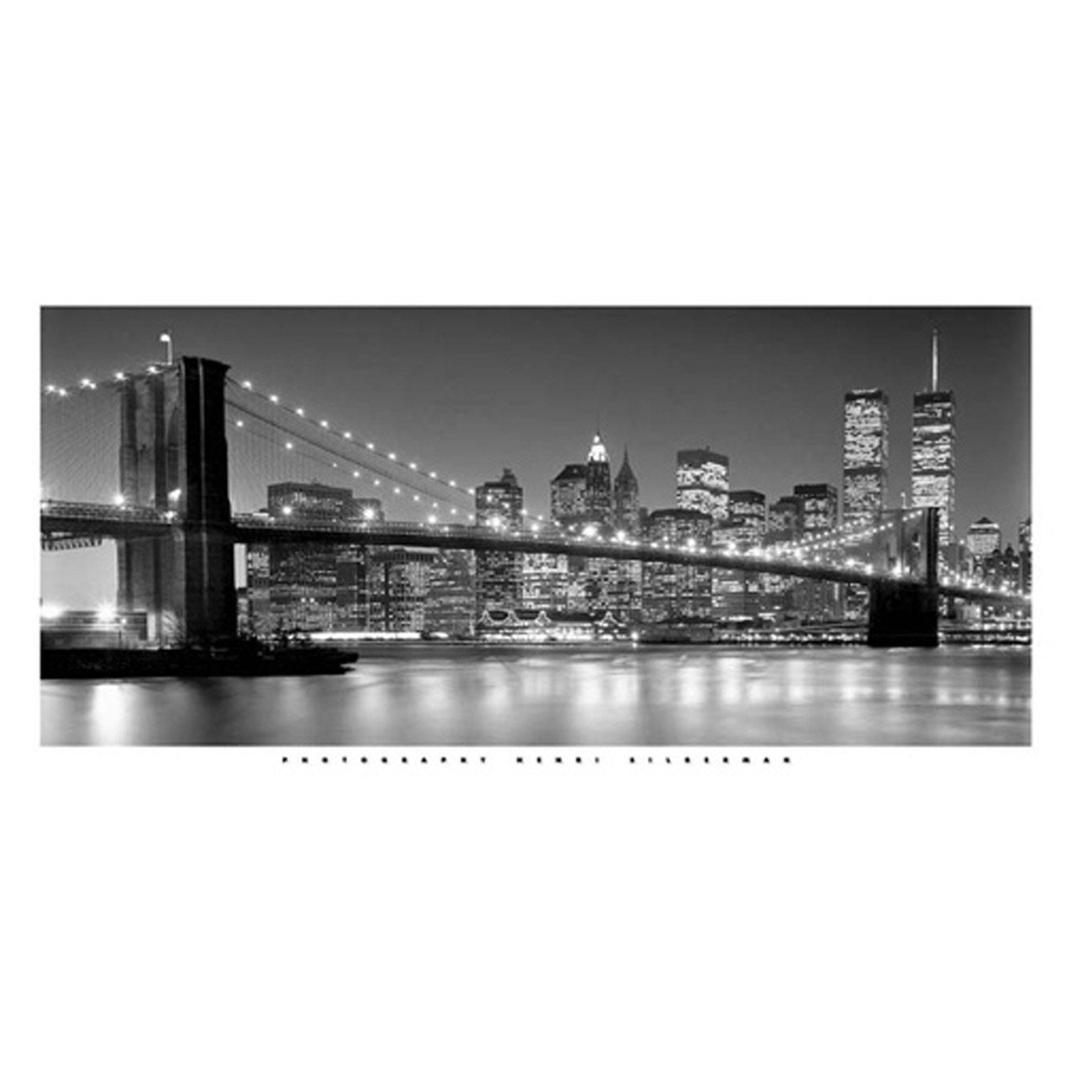 Affiche Brooklyn Bridge éclairé l.100 x H.50 cm