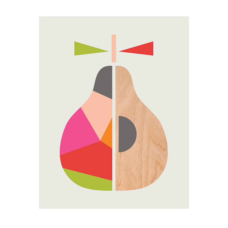 Affiche Geometric pear l.30 x H.40 cm
