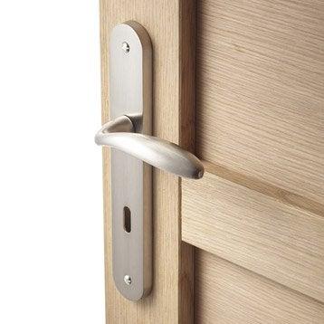 2 poignées de porte Agathe trou de clé, zinc, 195 mm