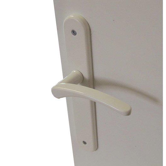 2 poign es de porte elise sans trou acier 195 mm leroy for Fixation tableau sans trou