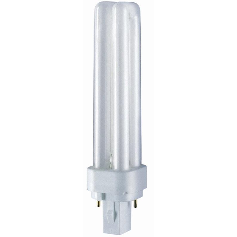 double coupon apparence élégante nouvelles photos Ampoule basse consommation G24D 26W = 1800Lm 4000K OSRAM