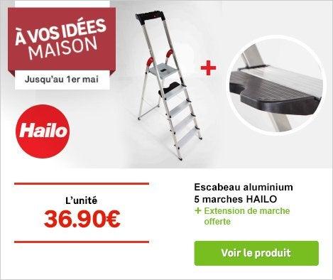 OP A VOS IDEES MAISON Escabeau aluminium HAILO