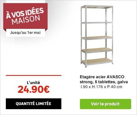 OP A VOS IDEES MAISON Etagère acier Avasco 69901916