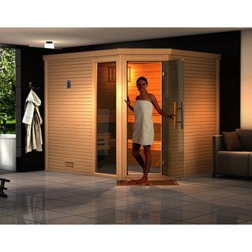 Sauna traditionnel 3 places, modèle Cubilis 2 OS WEKA, livraison incluse