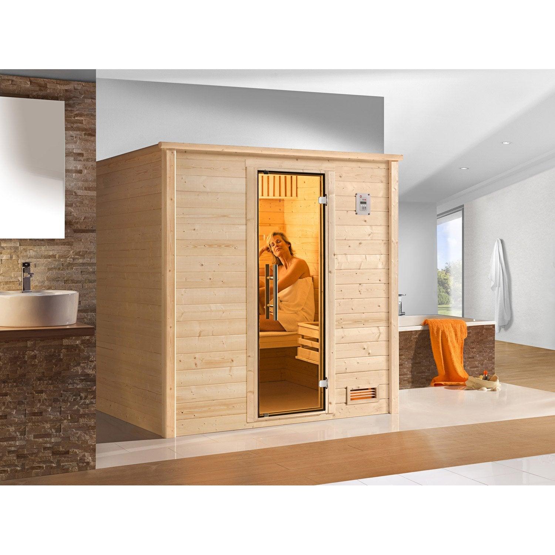 Sauna Traditionnel 2 Places, Modèle Bergen 1 OS Excl WEKA, Livraison  Incluse ...