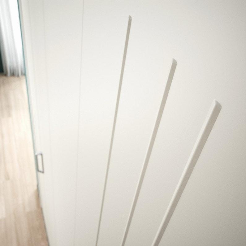 Porte De Placard Pliante Blanc Kazed L62 X H210 Cm