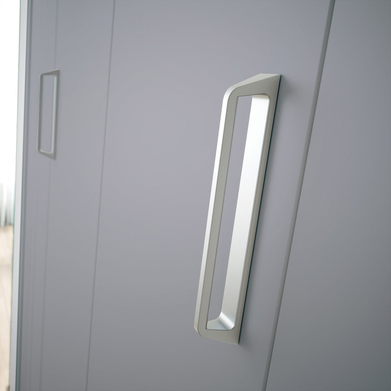 Porte De Placard Pliante Gris Kazed L62 X H210 Cm