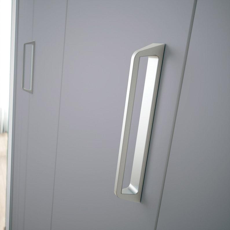 Porte De Placard Pliante Gris Kazed L62 X H246 Cm