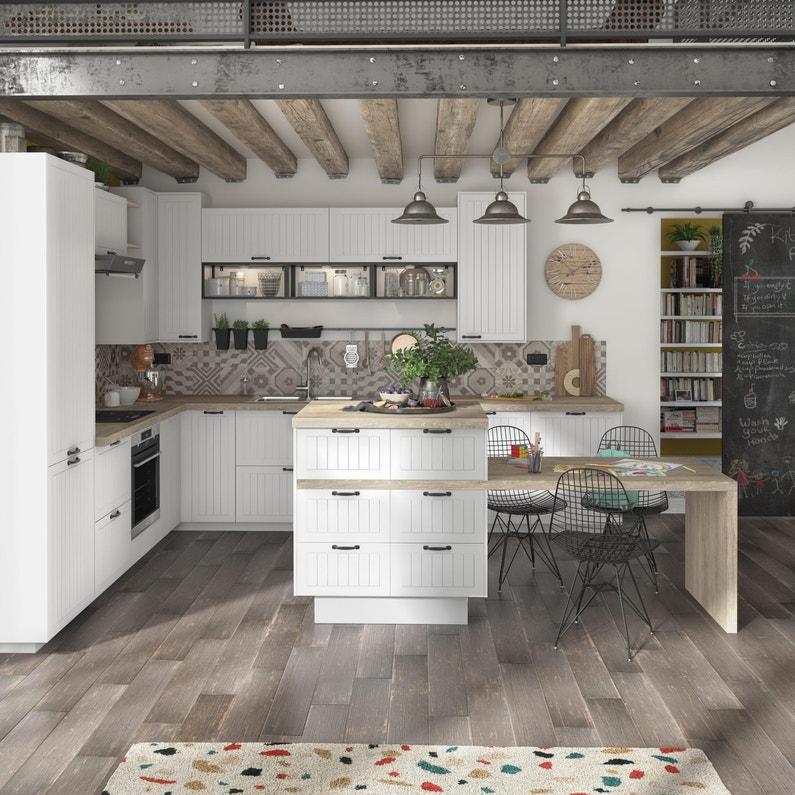 Porte De Cuisine Toscane Blanc Delinia Id H 76 5 X L 44 7 Cm