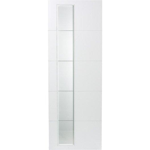 Porte coulissante rev tu blanc alaska artens 204 x 93 cm - Dimensions porte coulissante ...