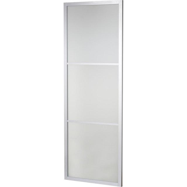 une porte coulissante avec le rail apparent leroy merlin. Black Bedroom Furniture Sets. Home Design Ideas